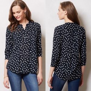 Maeve Polka Dot pop over blouse   size small